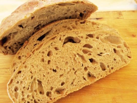 Brød med store bobler