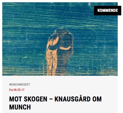 Knausgård om Munch fra nettsiden